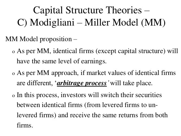 capital structure and approaches to capital structure According to this approach, the capital structure decision is relevant to the valuation of the firm as such a change in the capital structure causes an overall change in the cost of capital and also in the total value of the firm.