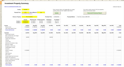 Rental Property Calculator Real Estate Investment Excel ...