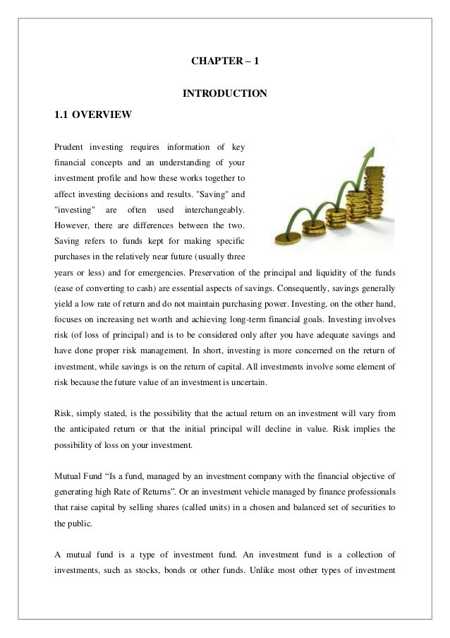 mutual funds essay Free essay: managerial economics - trends & growth of mutual fund in india mutual fund: mutual fund is an institutional arrangement wherein savings of.