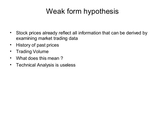 an examination of the efficient market hypothesis Chapter 9 efficient market hypothesis 9-1 1 efficient market hypothesis (emh) definition: a financial market is efficient market reaction over-reaction.