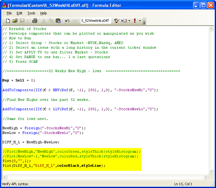 AmiBroker Users Knowledge Base Setup A Custom Database (v3